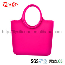 Super Grade Young Lady Custom Printed Silicone Handbag For Shopping or Outdoor Travel in 2012 Newest Design