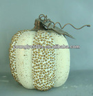 Decorative halloween white craft pumpkins