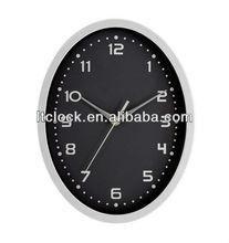 Oval wall clock plastic