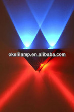 2012 Aluminum 4W High Power LED Colorful Wall Lamp,Blue&Red Colorpatented wall lamp
