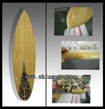 Full bamboo design fiberglass short surfboard