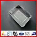 Alta qualidade descartáveis quadrados airline folha de alumínio recipiente/lunch box