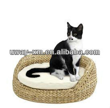 Round shaped banana leaf pet furniture for cats