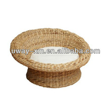 Best selling round shaped banana leaf pet bed for cats