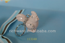ceramic pottery baby keychain decoration art craft porcelain