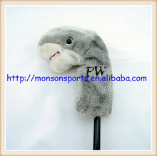 embroidery logo custom animal golf club head cover