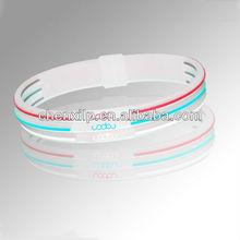 transparent silicone bracelets (top quality)