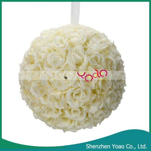 boules de fleur artificielle de mariage blanc ivoire