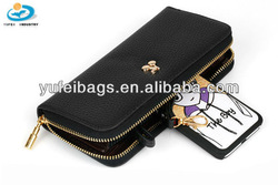 Black Zipped Lady Purse