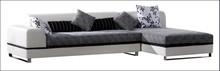 New design leather(PVC) and fabric sofa