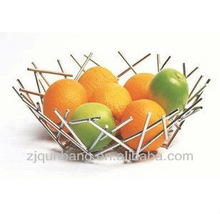 Metal compote handicraft stainless steel fruit basket&household items