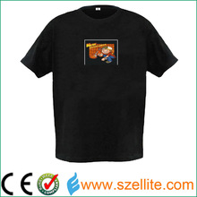 Child flashing logo el guitar t-shirt for night party favor