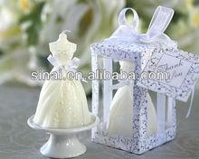 Elegant Wedding Gown Candle
