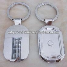 Custom metal die cut keychains/metal name keychain