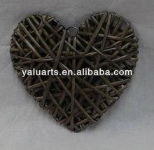 grey color handmade wicker gift in split willow