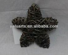 grey color wicker star gift in split willow