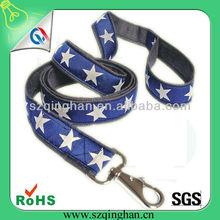 Nylon decorative woven logo or printing star hemp dog leashes