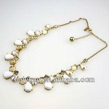 new necklace! rain drop shape white bubble bead decorate necklace