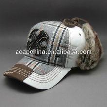 Mens Winter thermal Baseball cap with earflap