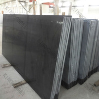 Absolutely Black Engineered Quartz Stone for Kitchen Countertop