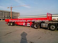 3-axle step-wise side wall open/column board low bed semi trailer