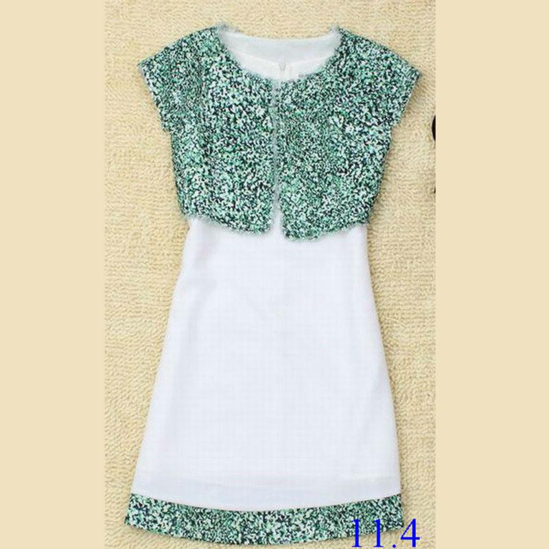 ثوب من الصوف لون مطابقة فساتين عادية السيدات ، صور فساتين شبه الرسمية
