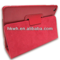 Factory Price Flip Book Style Stand PU Leather Cover Case for Ipad mini 2/3/4
