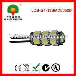 13pcs 2.2W DC12V High Brightness 5050 SMD G4 LED AUTO Light