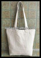 2013 Cheap Plain Handle Promotional Heavy Cotton Canvas Tote Bag