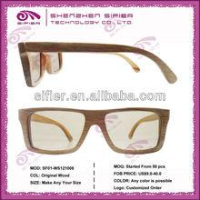 Wholesales Eyeglasses Natural Wood Fashion Optical Frame Eyewear