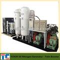 Nitrógeno para las plantas de carga en contenedor