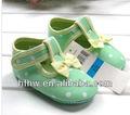 0-1 anos de comércio exterior de uma maçã verde feminina baby calçados anti- derrapante baby calçados das crianças sapatos