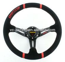 Hotsale 350mm MOMO Suede Leather Deep Corn Drifting Steering Wheel