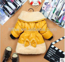 2013 KOREAN STYLE NEWEST FASHION THREE LITTLE FLOWER GIRL COTTON COAT