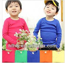 AUTUMN WINTER NEW NEUTRAL CHILDREN CANDY MULTICOLOR BASIC MONEY FOR LONG SLEEVE T-SHIRT