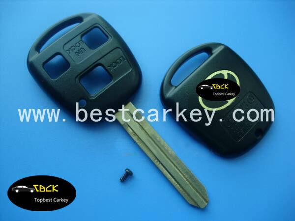 3 pulsanti chiave telecomando shell per toyota yaris toy43 portachiavi remoto caso