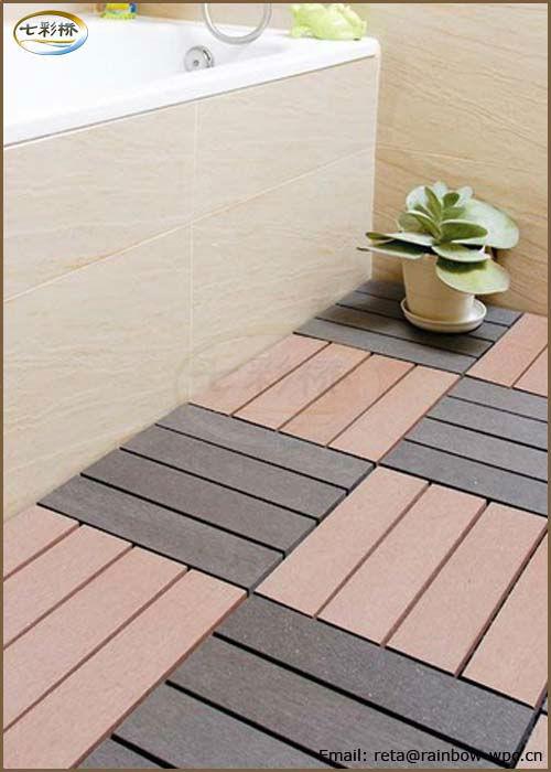 Balc n o jard n wpc piso azulejos precio barato de - Suelo jardin barato ...