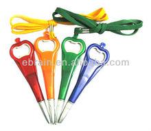 Promotional Plastic Bottle Opener Lanyard Pen, Neck Pens