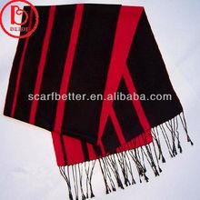 Woolen stripe hand knitted shawl