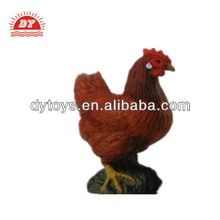 3d plastic farm animal figurine chicken toys for kids