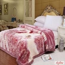 plush mink blanket/acrylic blanket/cheap price/2ply/king size