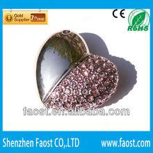 2013 hot selling Valentine Day Gift heart shape jewelry super talent usb flash drive