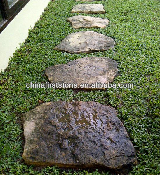 garden stepping stone slate steps