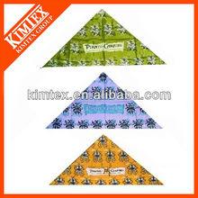 Design custom logo triangle bandana,head wraps