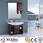2013 floor standing solid wood/ MDF/ particle board with melamine veneer bathroom cabinet