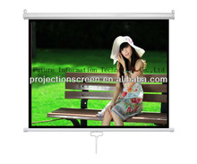 Wall mount Pull down auot-lock Manual projection screen ,Matte white ,1.1 gain,customized size ,low price