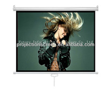 Wall mount Pull down auot-lock Manual projection screen ,Matte white ,1.1 gain,good quality,low price