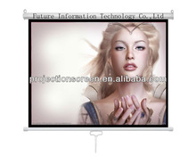 Wall mount Pull down auot-lock Manual projector screen ,Matte white ,1.1 gain,customized size ,low price