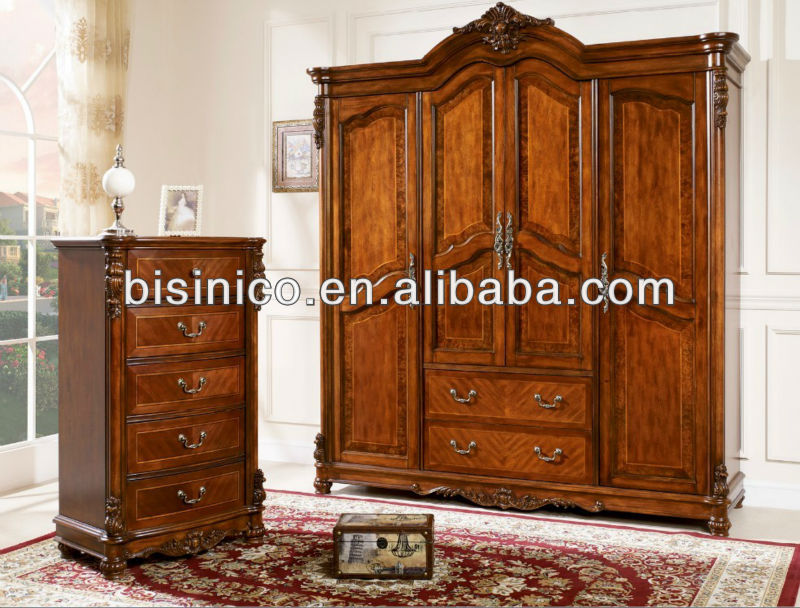 american classical soild wood armoire american style 4. Black Bedroom Furniture Sets. Home Design Ideas