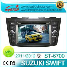 Hot selling LSQ Star Car DVD Player for SUZUKI swift 2012 with GPS Radio BT
